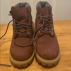 Size 13 maroon girls timberland boots